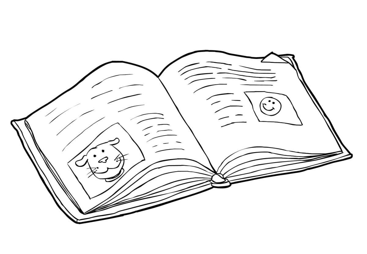 Раскраска про книги